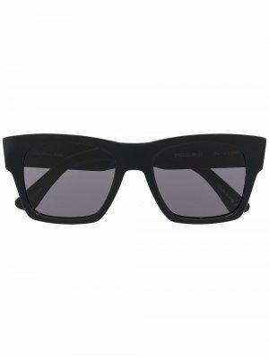 Солнцезащитные очки Droner в квадратной оправе Christian Roth. Цвет: черный