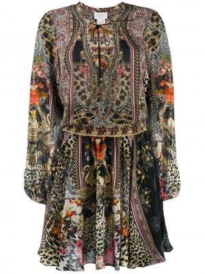 Платье с завязками и принтом Camilla