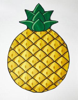 Пляжное полотенце с рисунком ананасов -Желтый Big Mouth