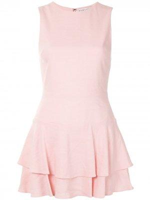 Платье мини Palmira с оборками Alice+Olivia. Цвет: розовый