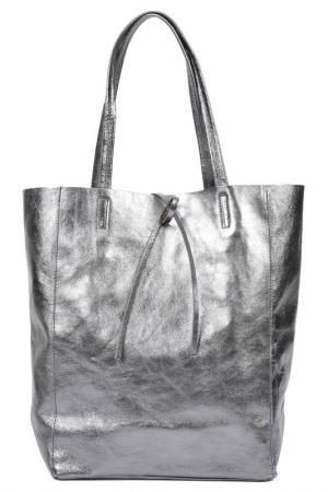 Сумка CARLA FERRERI. Цвет: grey, silver