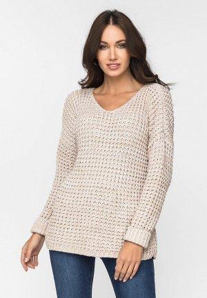 Пуловер Gloss. Цвет: бежевый