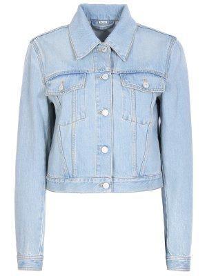Куртка джинсовая с принтом GUCCI