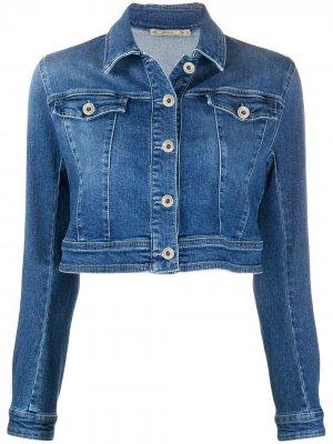 Укороченная джинсовая куртка Patrizia Pepe. Цвет: синий