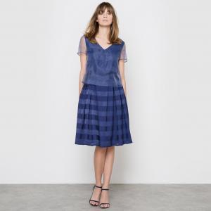 Платье вечернее LA REDOUTE COLLECTIONS. Цвет: синий морской,слоновая кость