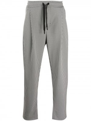 Клетчатые брюки с кулиской Dolce & Gabbana. Цвет: черный