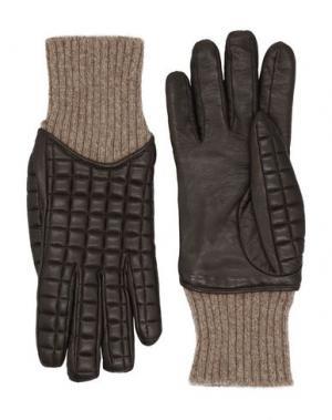 Перчатки FEDELI. Цвет: темно-коричневый