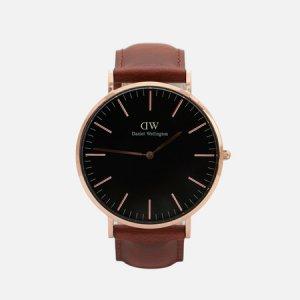 Наручные часы Classic St Mawes Daniel Wellington. Цвет: коричневый