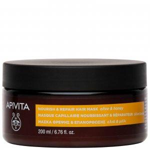 Питательная восстанавливающая маска для волос APIVITA Holistic Hair Care Nourish & Repair Mask - Olive Honey 200 мл