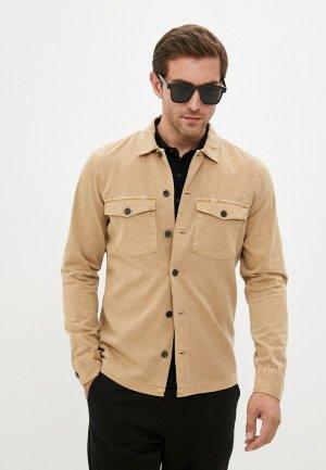 Рубашка джинсовая AllSaints. Цвет: бежевый
