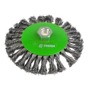 Щетка металлическая для ушм tundra, крученая проволока, TUNDRA