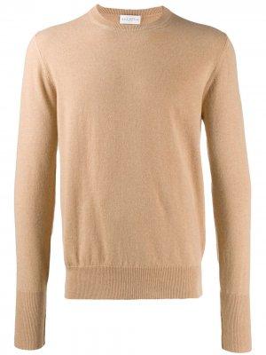 Кашемировый свитер с круглым вырезом Ballantyne. Цвет: бежевый