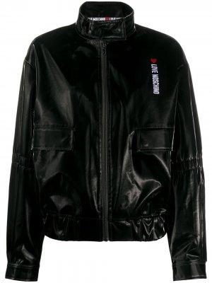 Куртка-бомбер на молнии с логотипом Love Moschino. Цвет: черный