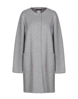 Легкое пальто MANUELA CONTI. Цвет: серый