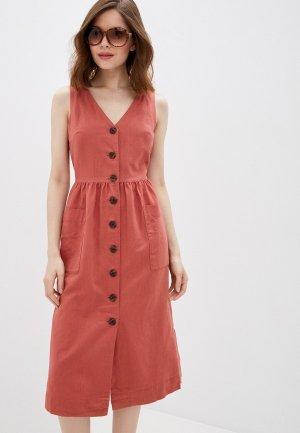 Платье Gap. Цвет: коралловый