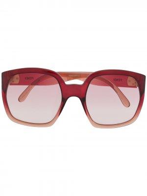 Солнцезащитные очки с эффектом градиента Fendi Eyewear. Цвет: розовый