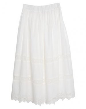Длинная юбка DIXIE. Цвет: белый
