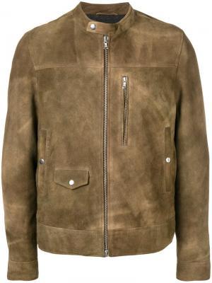 Куртка с эффектом потертости Mauro Grifoni. Цвет: коричневый