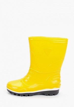 Резиновые сапоги Nordman. Цвет: желтый