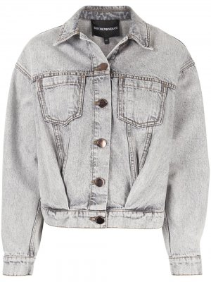 Джинсовая куртка оверсайз Emporio Armani. Цвет: синий