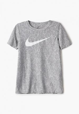 Футболка Nike B NK CORE SS PERF TOP HTHR. Цвет: серый