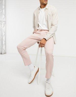 Розовые строгие джоггеры с эластичным поясом -Розовый Topman