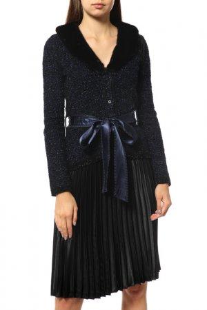 Пальто Blumarine. Цвет: темно-синий, темно-коричневый