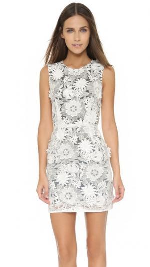 Кружевное платье Emma Cook. Цвет: белый