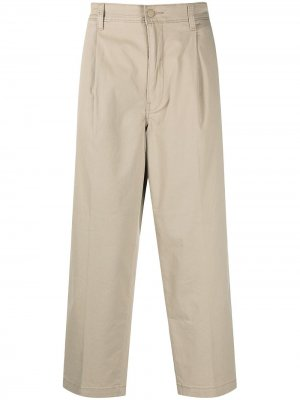 Levis укороченные брюки чинос с завышенной талией Levi's. Цвет: нейтральные цвета