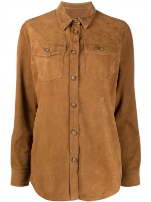 Куртка-рубашка Stewart. Цвет: коричневый