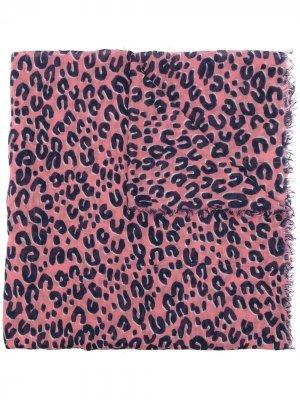 Шарф pre-owned с леопардовым принтом Louis Vuitton. Цвет: розовый