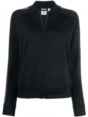 Куртка-бомбер adidas. Цвет: черный