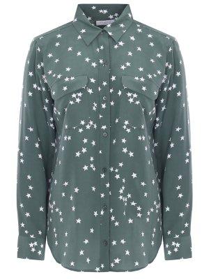 Блуза шелковая с принтом EQUIPMENT