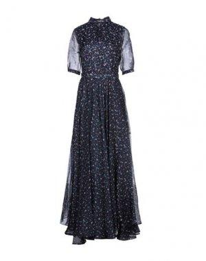 Длинное платье ALEXANDER TEREKHOV. Цвет: темно-синий