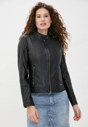 Куртка кожаная Mustang. Цвет: черный