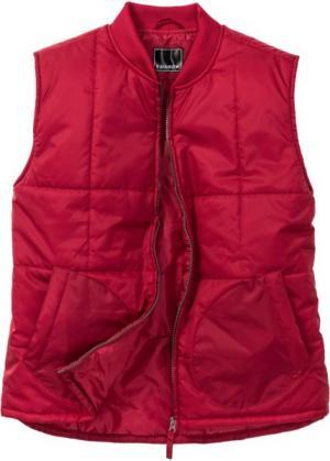 Жилетка Regular Fit на подкладке (темно-красный) bonprix. Цвет: темно-красный
