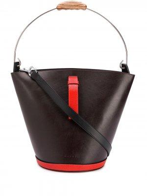 Большая сумка-тоут Cumaru Marni. Цвет: красный