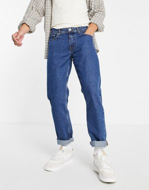 Синие выбеленные джинсы прямого кроя Dont Think Twice-Светло-бежевый цвет Don't Twice