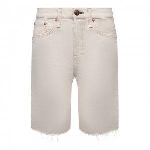 Джинсовые шорты Rag&Bone. Цвет: бежевый