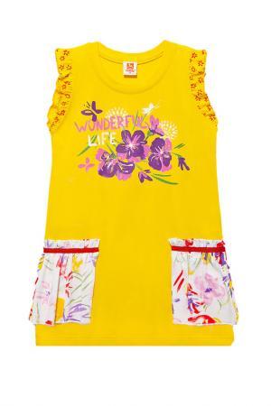 Платье Goldy. Цвет: желтый