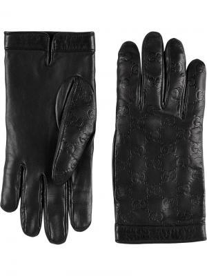 Классические перчатки Gucci. Цвет: черный