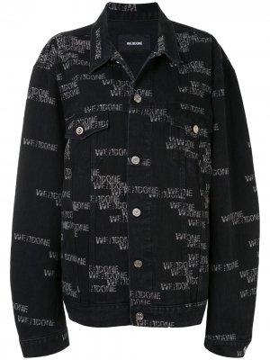 Джинсовая куртка оверсайз с логотипом We11done. Цвет: черный