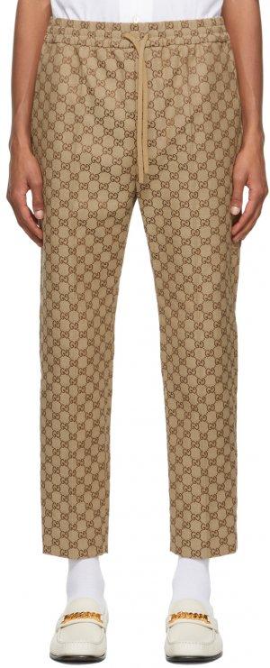 Beige GG Jogging Trousers Gucci. Цвет: 2580 camel/
