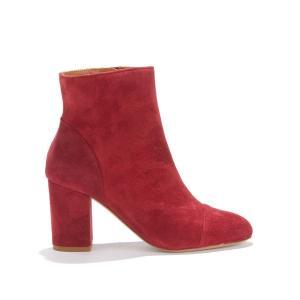 Ботильоны кожаные на высоком каблуке LA MYSTÉRIEUSE BOBBIES. Цвет: красный