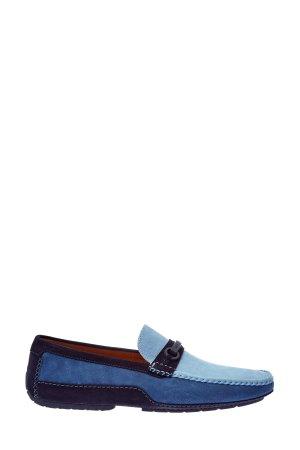 Замшевые мокасины ручной работы MORESCHI. Цвет: мульти