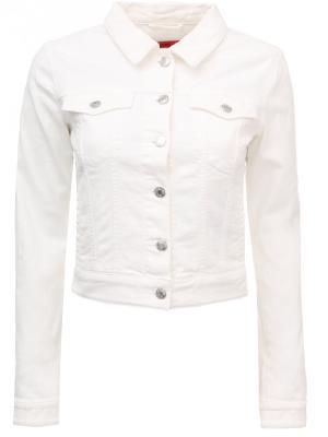 Джинсовая куртка HUGO BOSS. Цвет: разноцветный