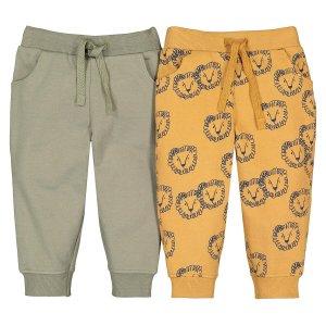 Комплект из 2 спортивных штанов La Redoute. Цвет: желтый