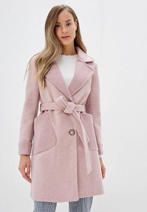 Пальто Marcella. Цвет: розовый