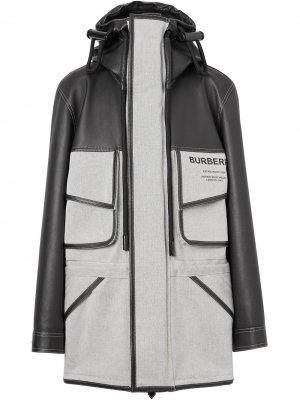 Куртка с капюшоном и принтом Horseferry Burberry. Цвет: черный
