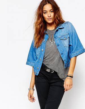 Джинсовая куртка-кимоно Diesel. Цвет: синий